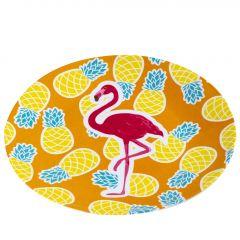 Teller Flamingo, orange, 23 cm