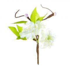 Deko-Stecker Kirschblüte, weiß, 14 cm