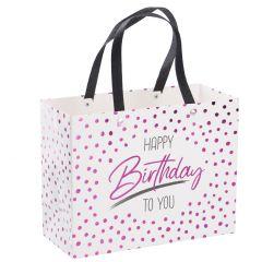 Geschenktüte Anlass, Happy Birthday, pink, 18 cm