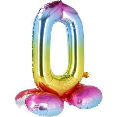 Folienballon Zahl 0, Stehend, 81 cm