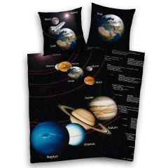 Bettwäsche, Sonnensystem, 135 x 200 cm